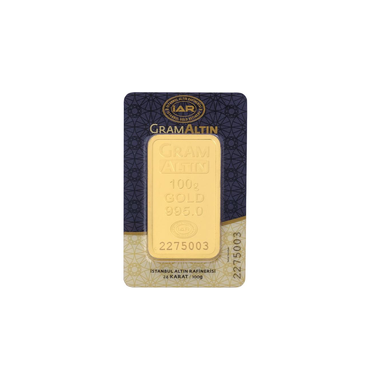 100 Gr İAR Külçe Altın