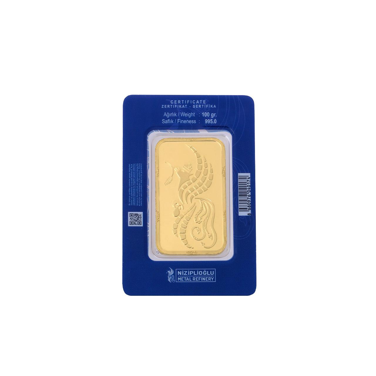 100 Gr NZP Külçe Altın