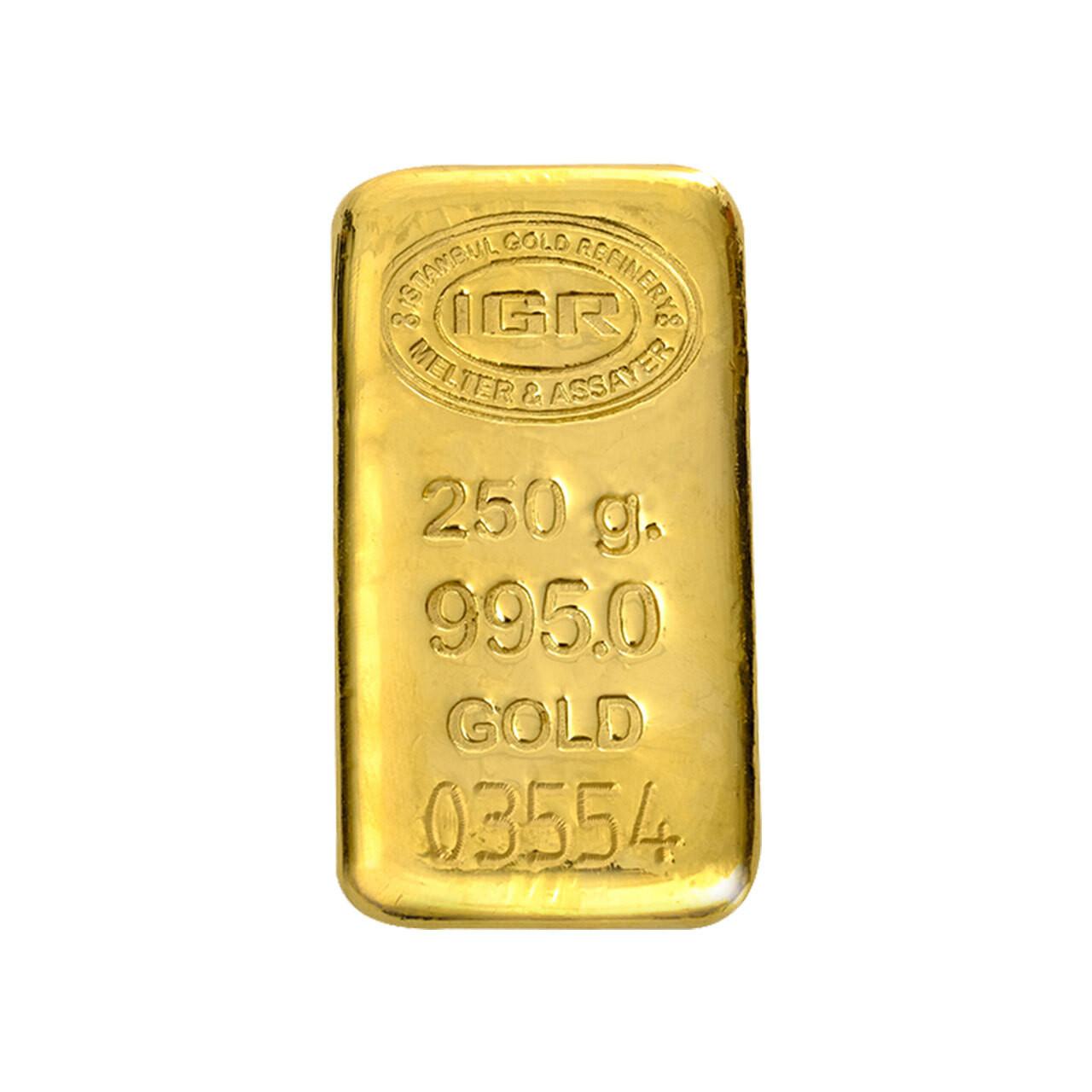 250 Gr İAR Külçe Altın