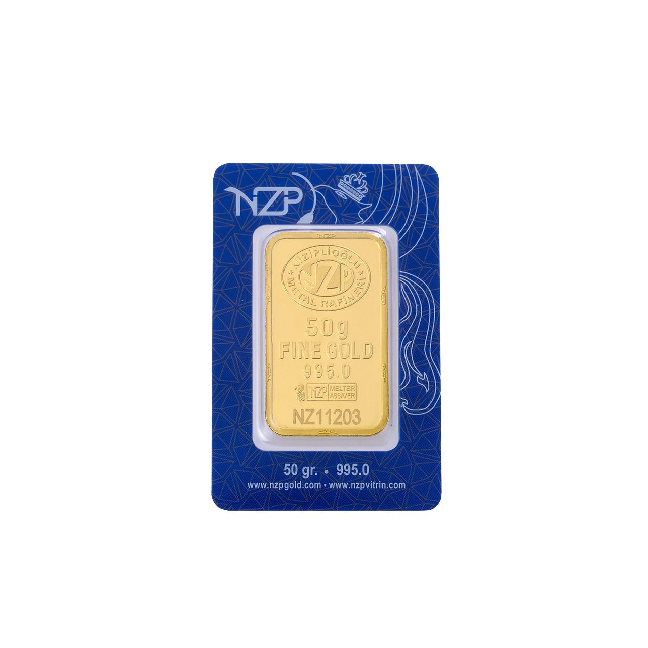 50 Gr NZP Külçe Altın