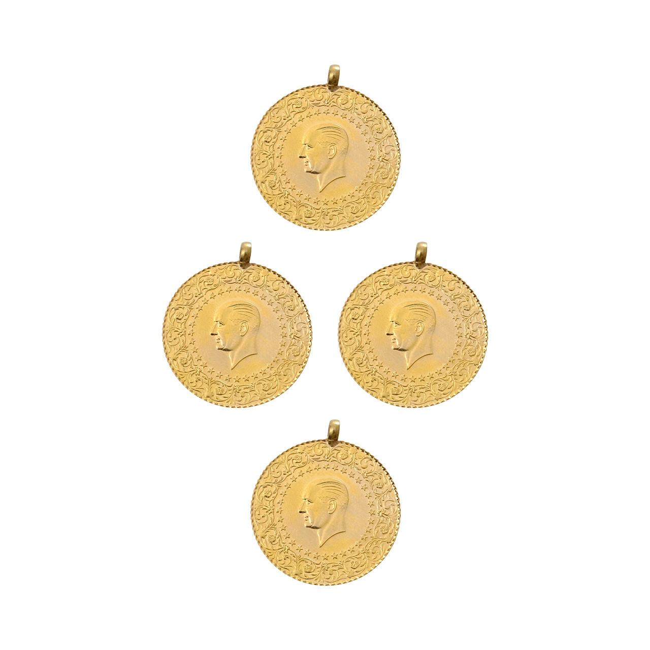 4 Adet Tam (Teklik) Altın Eski Tarihli